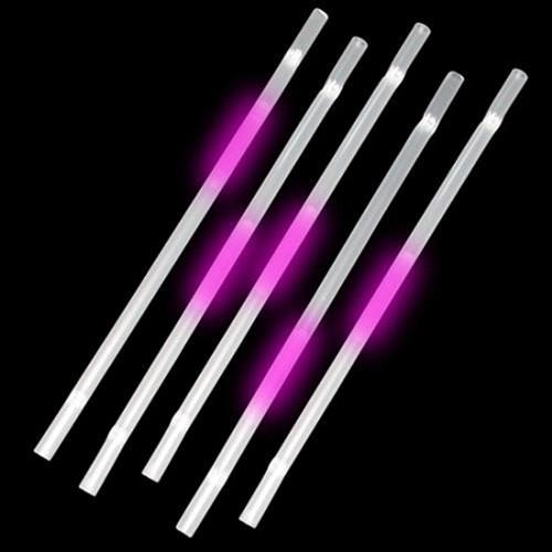 Pink Glow Straws (25 Per Pack!)