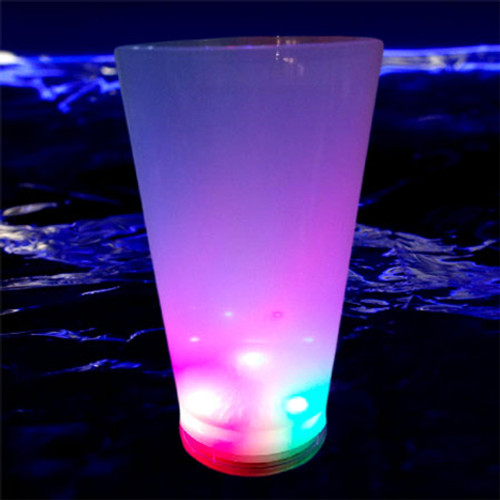 Lighted White Pint Cup: RGB
