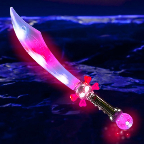 Light Up Pirate Sword with Skull and Crossbones