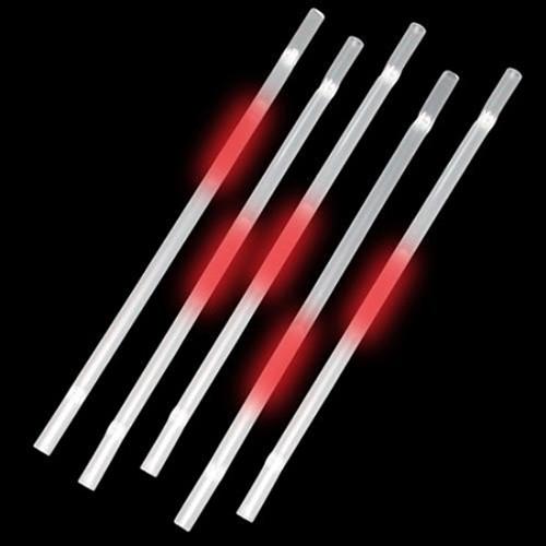 Red Glow Straws (25 Per Pack!)