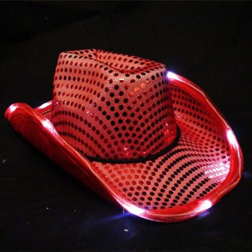 Red Light Up Cowboy Hat