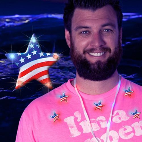 US Flag Star Light Pins