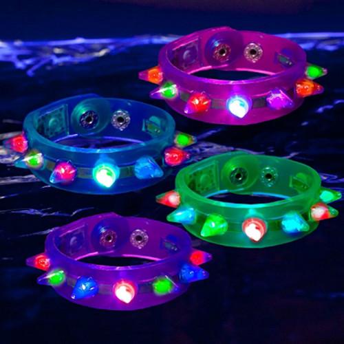 LED Spike Jelly Bracelet
