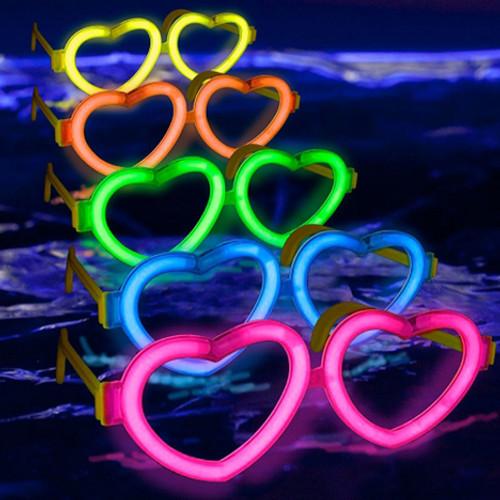 Orange Glow Heart Shaped Glasses - Singles