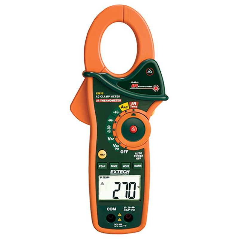 EX810 1000A AC Clamp Meter with IR Thermometer