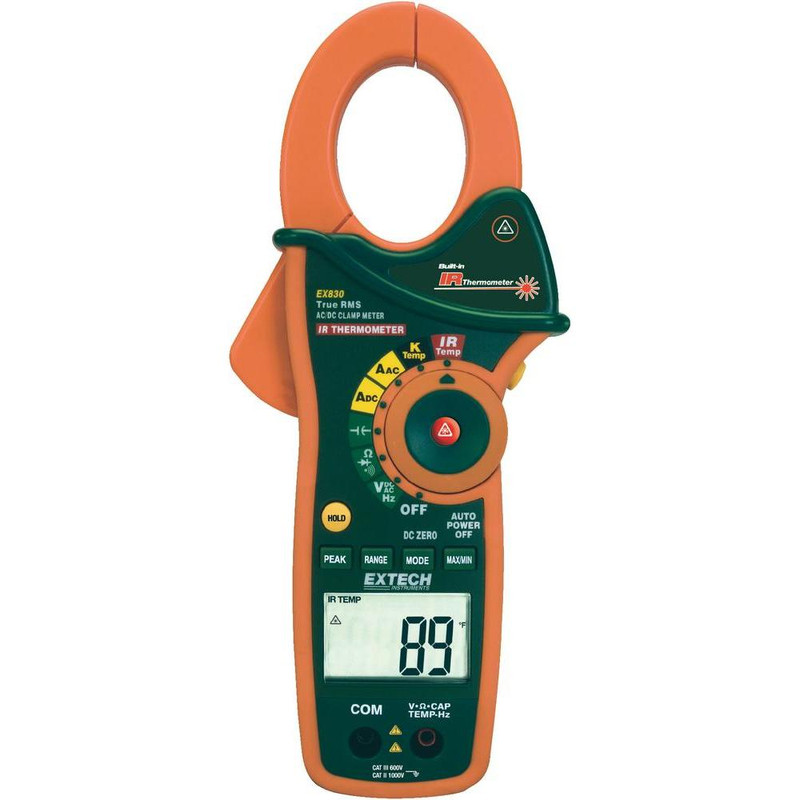 EX830 1000A True RMS AC/DC Clamp Meter with IR Thermometer