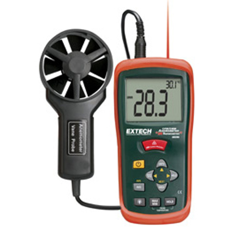 EXTECH AN100 CFM/CMM Mini Thermo-Anemometer with NIST