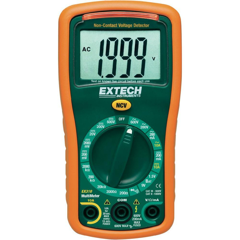 EX310 9 Function Mini MultiMeter + Non-Contact Voltage Detector with NIST