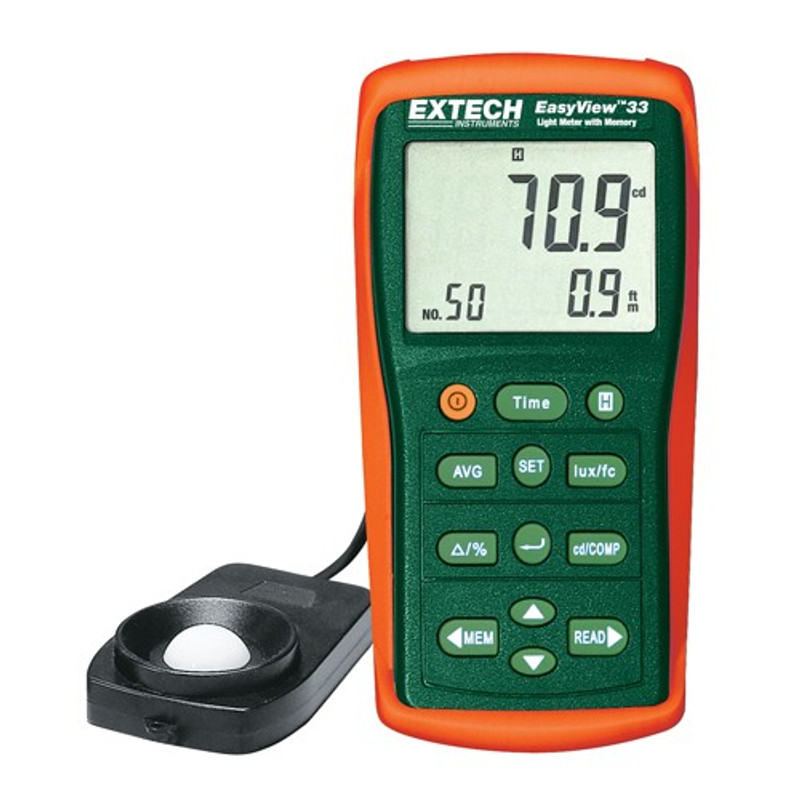 EXTECH EA33 EasyView™ Light Meter with Memory with NIST