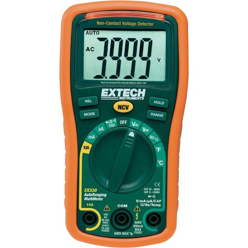 EX330 12 Function Mini MultiMeter + Non-Contact Voltage Detector