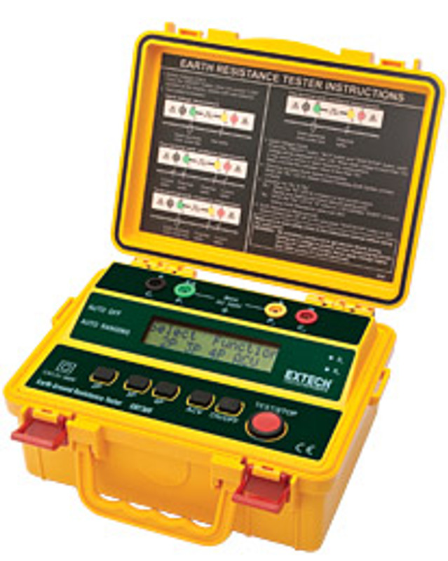 EXTECH GRT300 4-Wire Earth Ground Resistance Tester with limited NIST