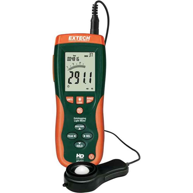 EXTECH HD450 Datalogging Heavy Duty Light Meter with NIST