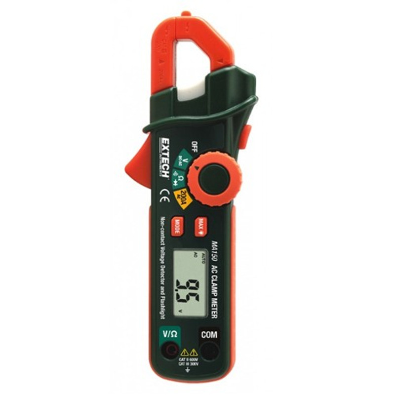 EXTECH MA150 200A Mini AC Clamp Meter + NCV Detector with NIST