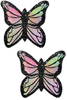 Shop women's pastel color glitter monarch butterfly nipple cover pasties that feature a durable no-mess glitter with latex-free adhesive nipple pasties!