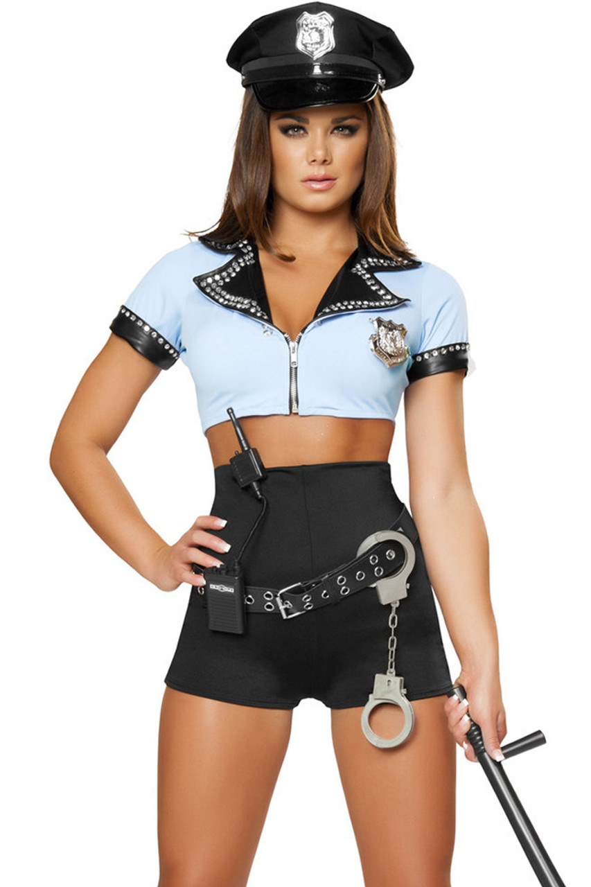 8Pc Sexy Police Woman - Womens Costume-8544