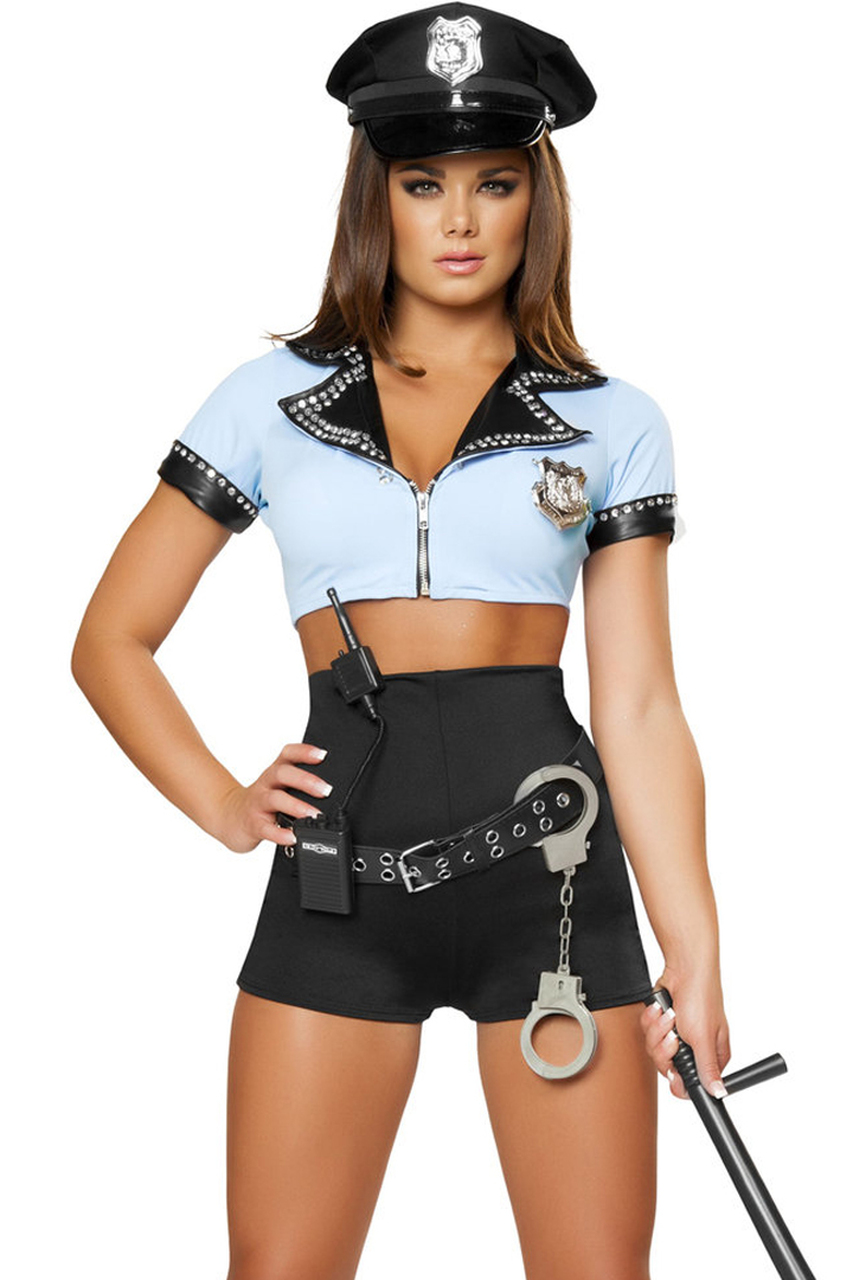 8Pc Sexy Police Woman - Womens Costume-3533