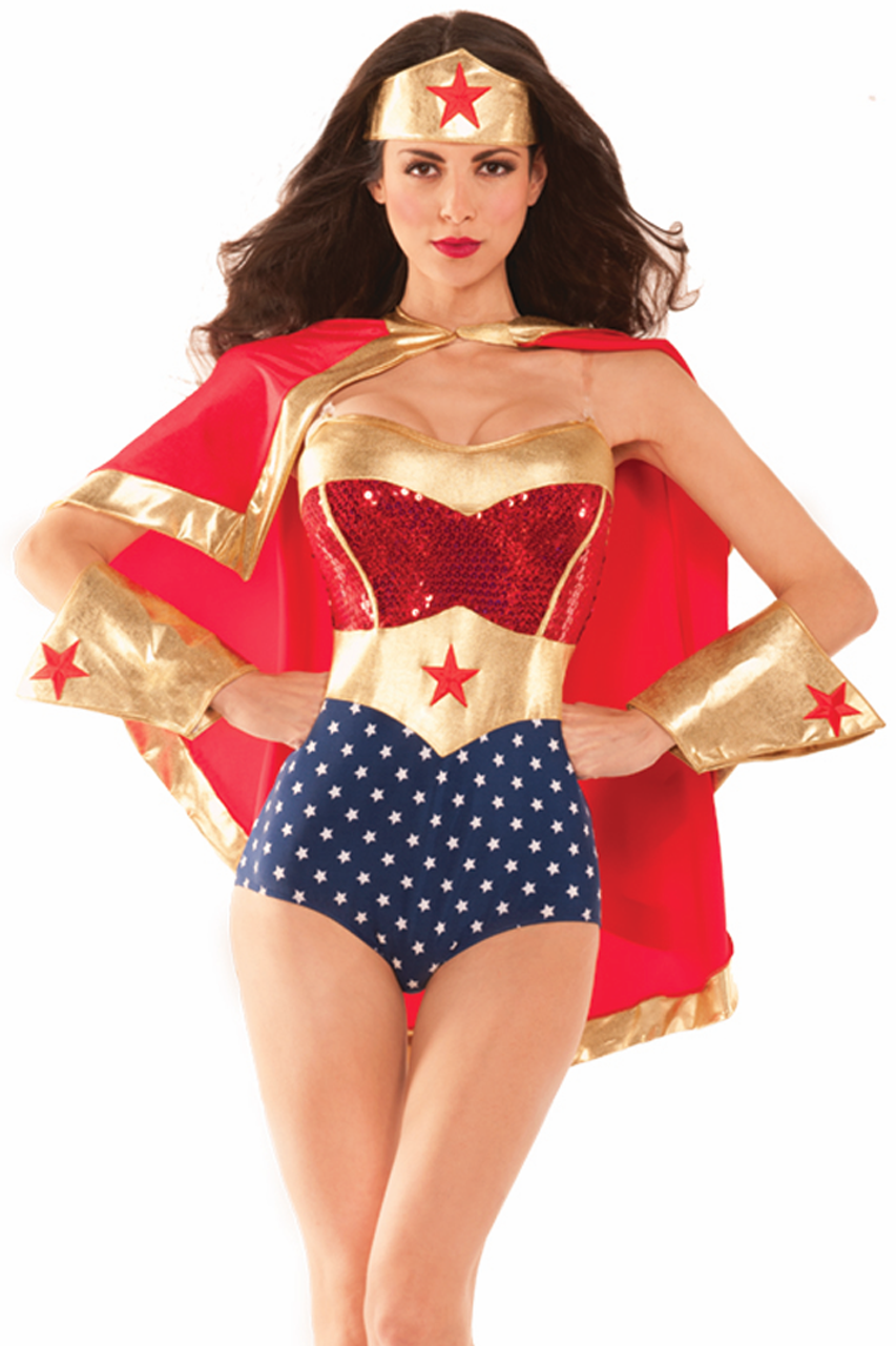 Womens Wonderful Babe Costume-3031