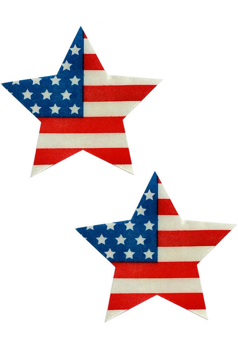 Shop women's American flag USA nipple cover pasties.