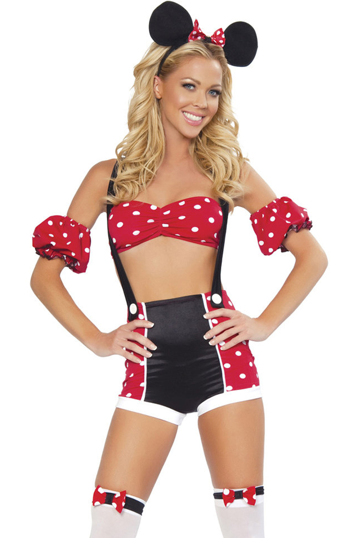 Shop womenu0027s pinup mini mouse costume with ears and suspenders by Roma Costumes.  sc 1 st  Julbie & 4pc Pinup Mouse - Womenu0027s Costume