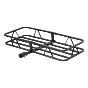 "CURT 48"" x 20"" Basket-Style Cargo Carrier (Fixed 1-1/4"" Shank with 2"" Adapter) #18145"