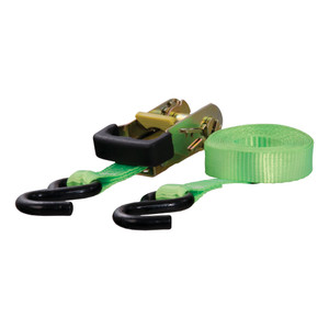 CURT 16' Lime Green Cargo Strap with S-Hooks (1,100 lbs.) #83027