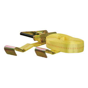 CURT 27' Yellow Cargo Strap with Flat Hooks (3,333 lbs.) #83048