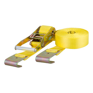 CURT 27' Yellow Cargo Strap with Flat Hooks (3,333 lbs.) #83050