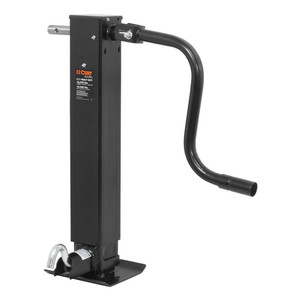 "CURT Direct-Weld Square Jack with Side Handle (12,000 lbs., 12-1/2"" Travel) #28512"