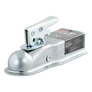 "CURT 1-7/8"" Straight-Tongue Coupler with Posi-Lock (2-1/2"" Channel, 2,000 lbs., Zinc) #25105"