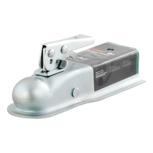 """CURT 2"""" Straight-Tongue Coupler with Posi-Lock (2-1/2"""" Channel, 3,500 lbs., Zinc) #25135"""