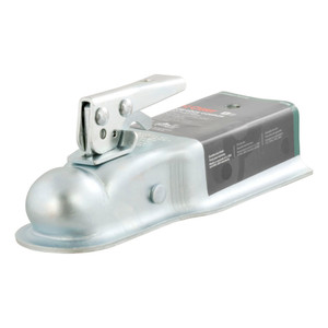 """CURT 2"""" Straight-Tongue Coupler with Posi-Lock (3"""" Channel, 3,500 lbs., Zinc) #25138"""