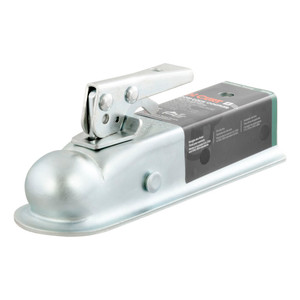 "CURT 2"" Straight-Tongue Coupler with Posi-Lock (2"" Channel, 3,500 lbs., Zinc) #25153"