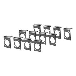 CURT Connector Mounting Brackets for 7-Way RV Blade (Black, 12-Pack) #57205
