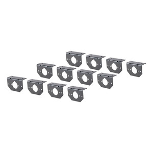 CURT Connector Mounting Brackets for 4 or 5-Way Flat & 6-Way Round (12-Pack) #57207