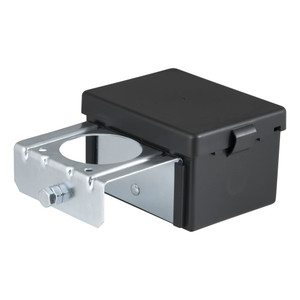 "CURT 5"" x 3-1/4"" x 3-7/8"" Lockable Breakaway Battery Case with Metal Bracket #52029"