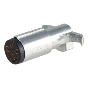CURT 6-Way Round Connector Plug (Trailer Side, Packaged) #58081