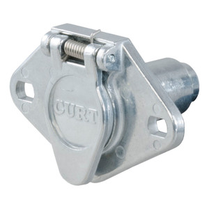 CURT 6-Way Round Connector Socket (Vehicle Side, Diecast Metal) #58090