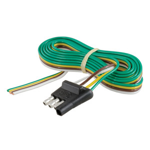 """CURT 4-Way Flat Connector Plug with 48"""" Wires (Trailer Side, Packaged) #58348"""