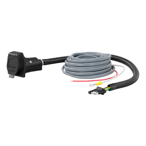 CURT 4-Way Flat Electrical Adapter with Brake Control Wiring #57186