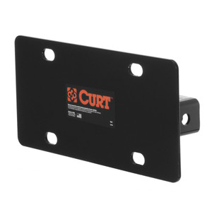 "CURT Hitch-Mounted License Plate Holder (Fits 2"" Receiver) #31002"