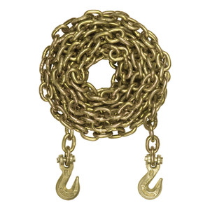 CURT 25' Transport Binder Safety Chain with 2 Clevis Hooks (18,800 lbs., Yellow Zinc) #80308
