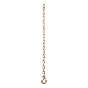 "CURT 35"" Safety Chain with 1 Clevis Hook (12,600 lbs., Yellow Zinc) #80303"