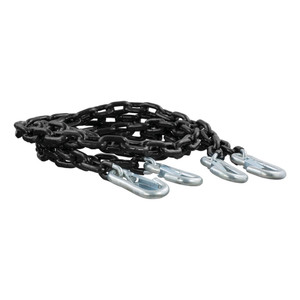 "CURT 65"" Safety Chains with 2 Snap Hooks Each (5,000 lbs., Vinyl-Coated, 2-Pack) #19749"