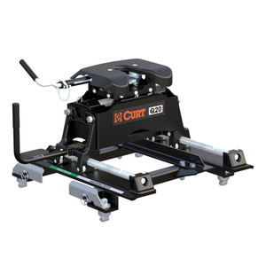 CURT Q20 5th Wheel Hitch with Roller and GM Puck System Adapter #16671