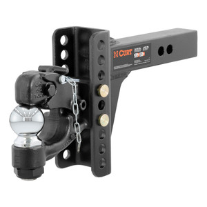 "CURT Adjustable Channel Mount with 2-5/16"" Ball & Pintle (2"" Shank, 13,000 lbs.) #45907"