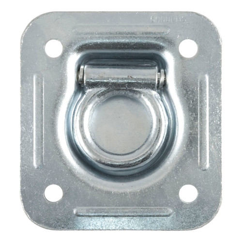 "CURT 1-1/2"" x 1-1/2"" Recessed Tie-Down Ring (5,000 lbs., Clear Zinc) #83600"