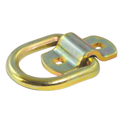 "CURT 3"" x 3"" Surface-Mounted Tie-Down D-Ring (3,600 lbs., Yellow Zinc) #83740"
