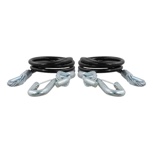 "CURT 44-1/2"" Safety Cables with 2 Snap Hooks (5,000 lbs., Vinyl-Coated, 2-Pack) #80151"