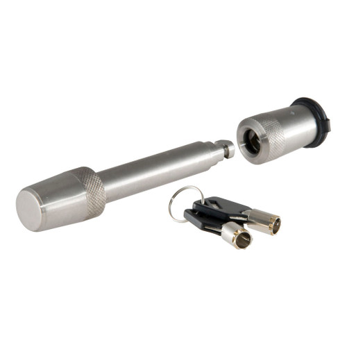 """CURT 5/8"""" Hitch Lock (2"""" Receiver, Barbell, Stainless) #23583"""