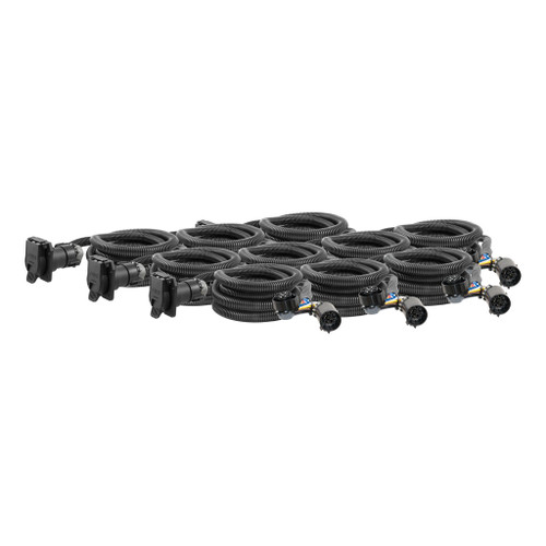 CURT 10' Custom Wiring Harness Extensions (Adds 7-Way RV Blade to Truck Bed, 10-Pack) #56000010